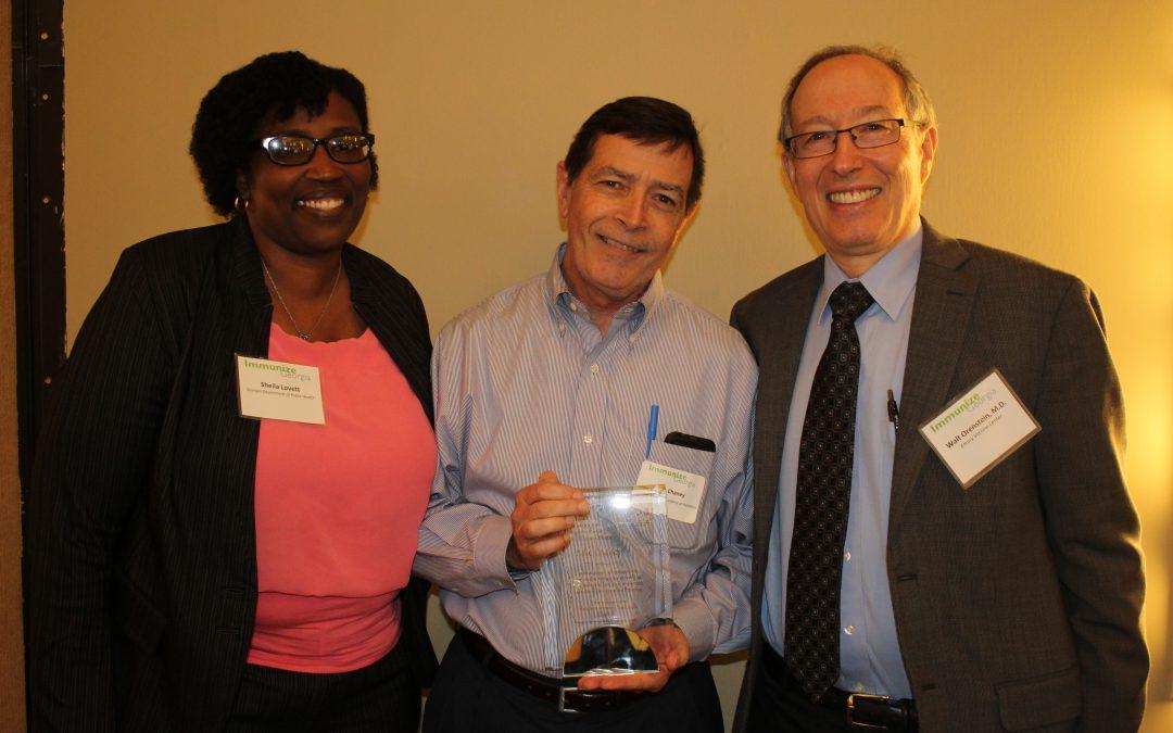 Mike Chaney Receives Walt Orenstein Champions for Immunization Award