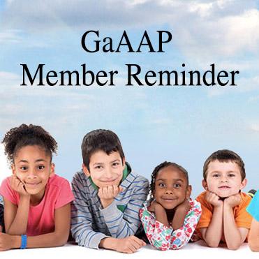 Georgia AAP: Member Reminder